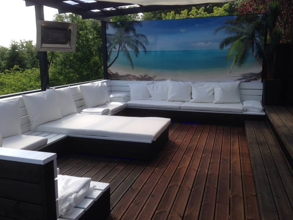 Ibiza Outdoor Lounge during Summer